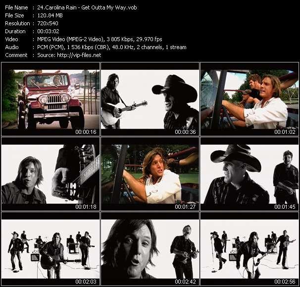 Screenshot of Music Video Carolina Rain - Get Outta My Way