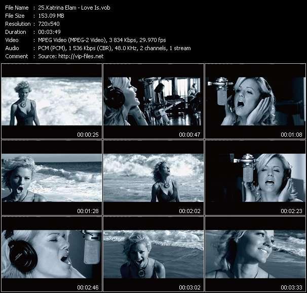 Screenshot of Music Video Katrina Elam - Love Is
