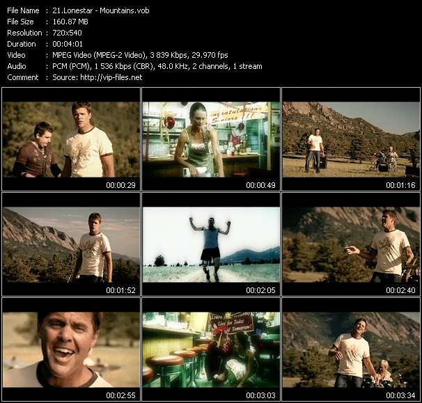 Screenshot of Music Video Lonestar - Mountains