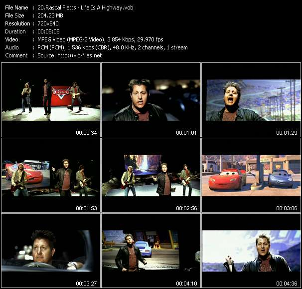 Screenshot of Music Video Rascal Flatts - Life Is A Highway