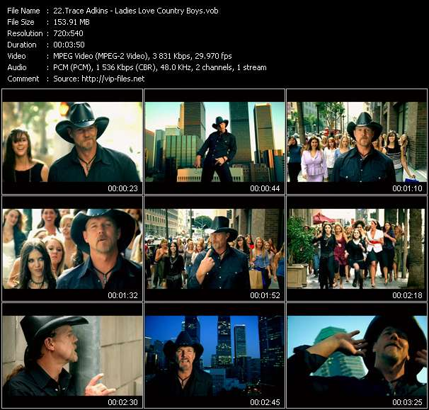 Screenshot of Music Video Trace Adkins - Ladies Love Country Boys