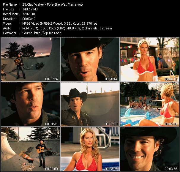Screenshot of Music Video Clay Walker - Fore She Was Mama