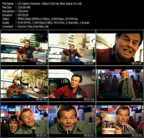Screenshot of Music Video Sammy Kershaw - Baby's Got Her Blue Jeans On
