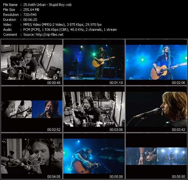 Screenshot of Music Video Keith Urban - Stupid Boy