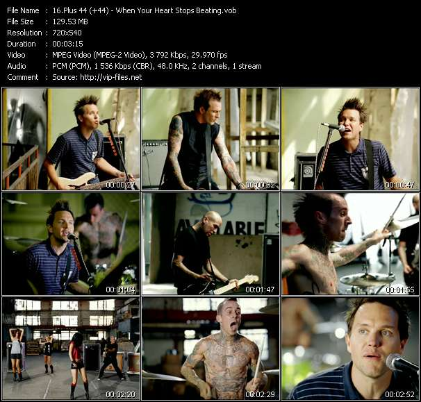 Screenshot of Music Video Plus 44 (+44) - When Your Heart Stops Beating