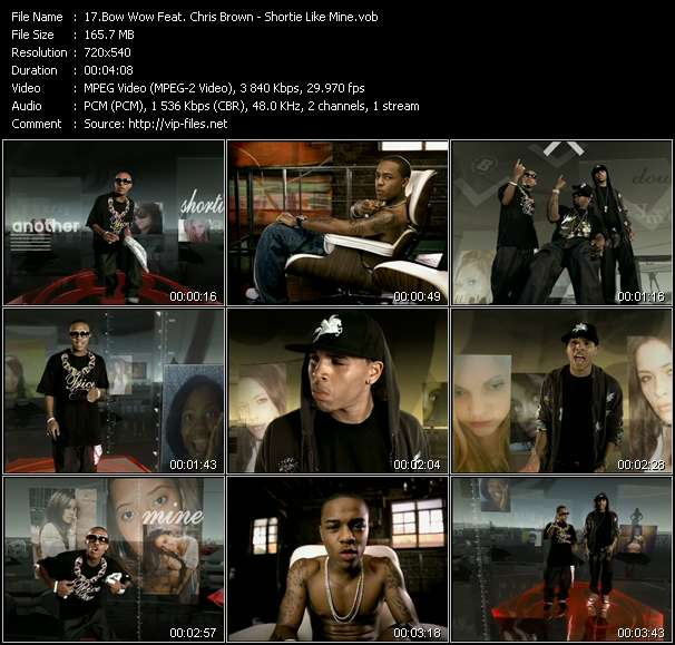 Screenshot of Music Video Bow Wow Feat. Chris Brown - Shortie Like Mine
