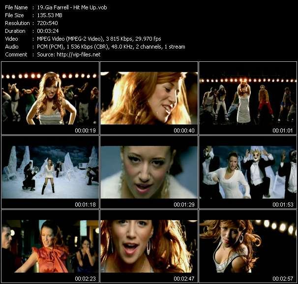 Screenshot of Music Video Gia Farrell - Hit Me Up