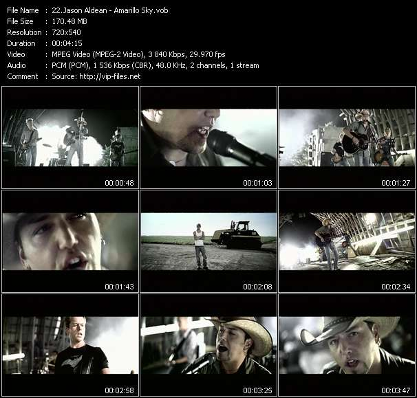 Screenshot of Music Video Jason Aldean - Amarillo Sky