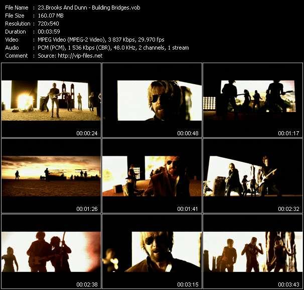 Screenshot of Music Video Brooks And Dunn - Building Bridges
