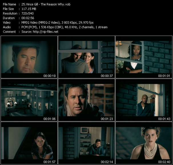 Screenshot of Music Video Vince Gill - The Reason Why