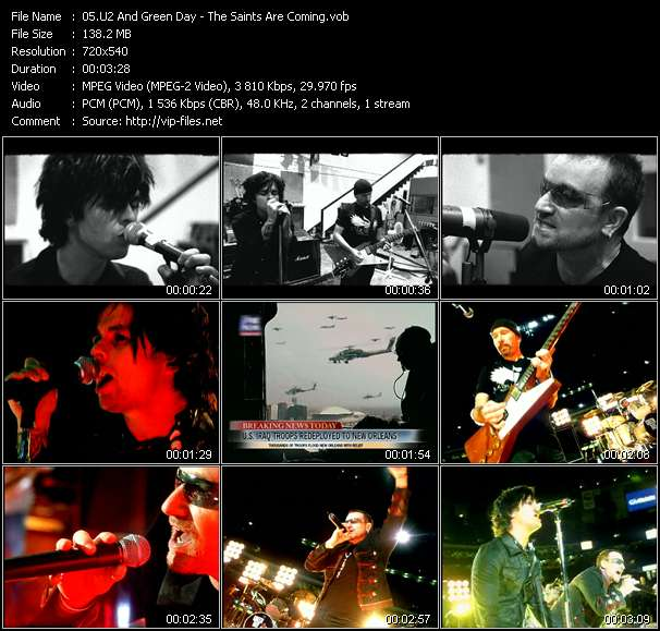 U2 And Green Day video vob