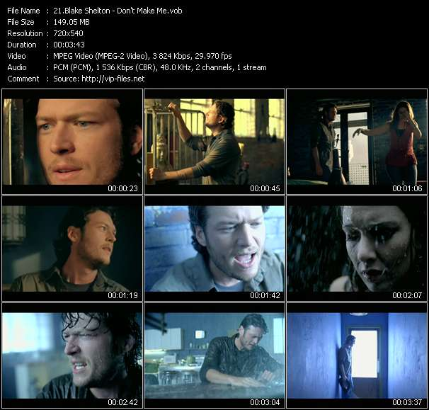 Blake Shelton video vob