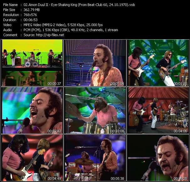 Screenshot of Music Video Amon Duul II - Eye-Shaking King (From Beat-Club 60, 24.10.1970)