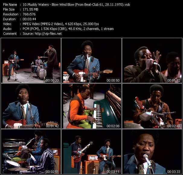 Screenshot of Music Video Muddy Waters - Blow Wind Blow (From Beat-Club 61, 28.11.1970)