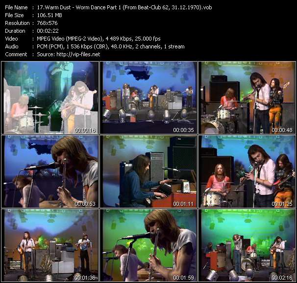 Screenshot of Music Video Warm Dust - Worm Dance Part 1 (From Beat-Club 62, 31.12.1970)