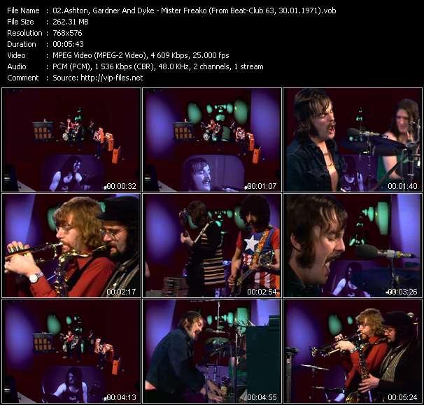 Screenshot of Music Video Ashton, Gardner And Dyke - Mister Freako (From Beat-Club 63, 30.01.1971)