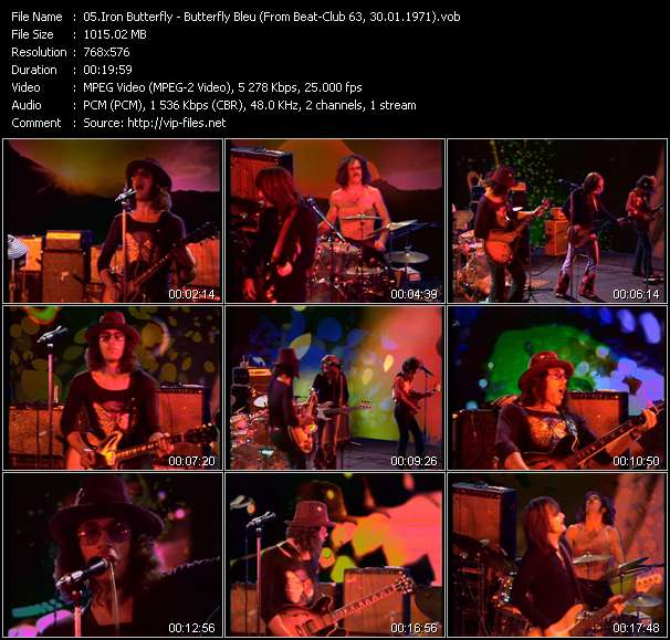 Screenshot of Music Video Iron Butterfly - Butterfly Bleu (From Beat-Club 63, 30.01.1971)