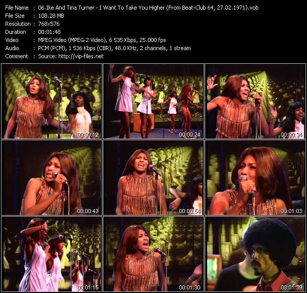 Screenshot of Music Video Ike And Tina Turner - I Want To Take You Higher (From Beat-Club 64, 27.02.1971)