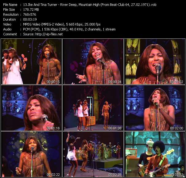 Screenshot of Music Video Ike And Tina Turner - River Deep, Mountain High (From Beat-Club 64, 27.02.1971)
