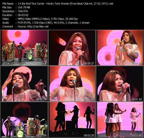 Screenshot of Music Video Ike And Tina Turner - Honky Tonk Women (From Beat-Club 64, 27.02.1971)