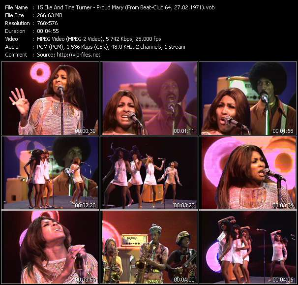 Screenshot of Music Video Ike And Tina Turner - Proud Mary (From Beat-Club 64, 27.02.1971)