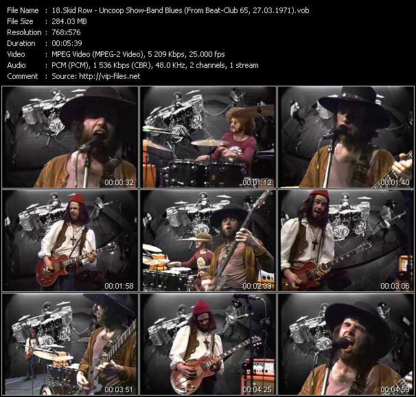 Screenshot of Music Video Skid Row - Uncoop Show-Band Blues (From Beat-Club 65, 27.03.1971)