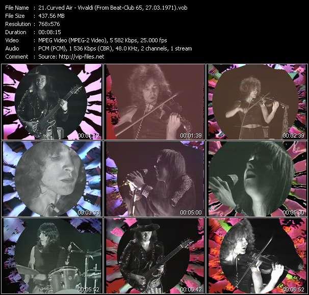 Screenshot of Music Video Curved Air - Vivaldi (From Beat-Club 65, 27.03.1971)