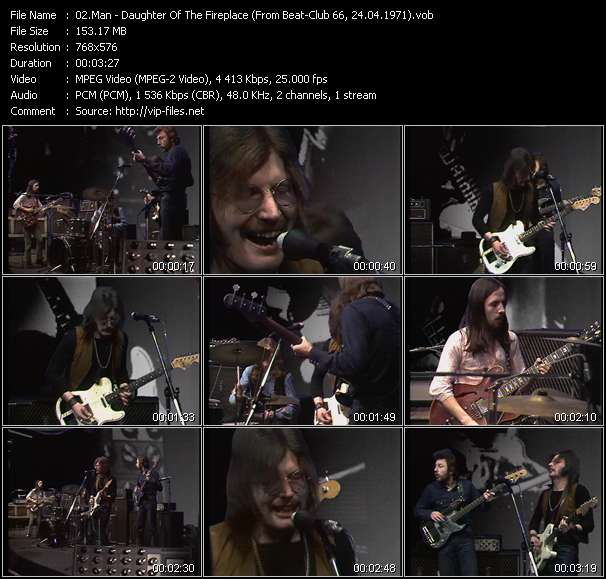 Screenshot of Music Video Man - Daughter Of The Fireplace (From Beat-Club 66, 24.04.1971)