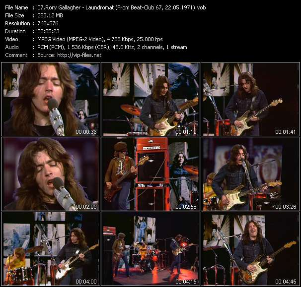 Screenshot of Music Video Rory Gallagher - Laundromat (From Beat-Club 67, 22.05.1971)