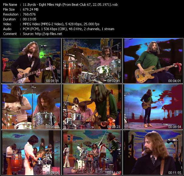 Screenshot of Music Video Byrds - Eight Miles High (From Beat-Club 67, 22.05.1971)