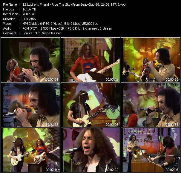 Screenshot of Music Video Lucifer's Friend - Ride The Sky (From Beat-Club 68, 26.06.1971)