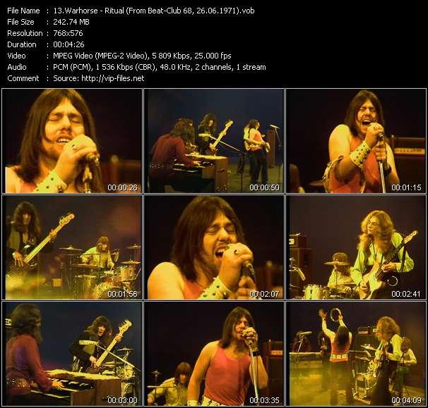 Screenshot of Music Video Warhorse - Ritual (From Beat-Club 68, 26.06.1971)