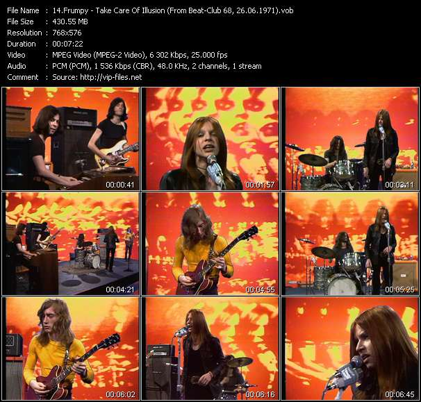 Screenshot of Music Video Frumpy - Take Care Of Illusion (From Beat-Club 68, 26.06.1971)