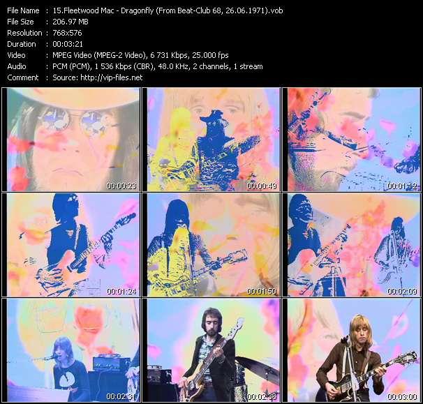 Screenshot of Music Video Fleetwood Mac - Dragonfly (From Beat-Club 68, 26.06.1971)