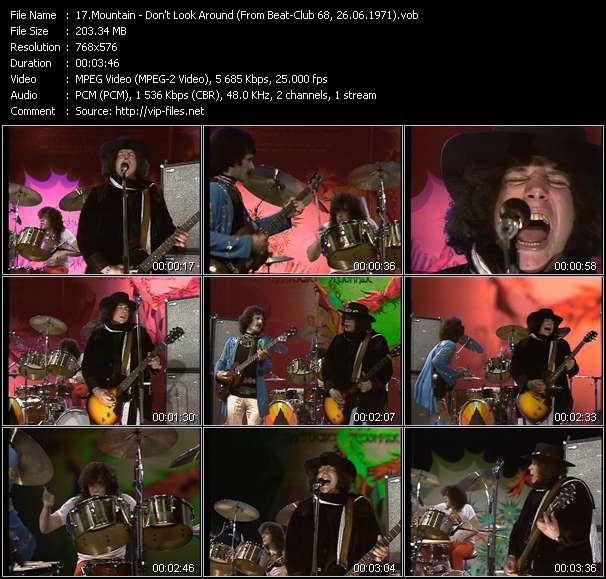 Screenshot of Music Video Mountain - Don't Look Around (From Beat-Club 68, 26.06.1971)