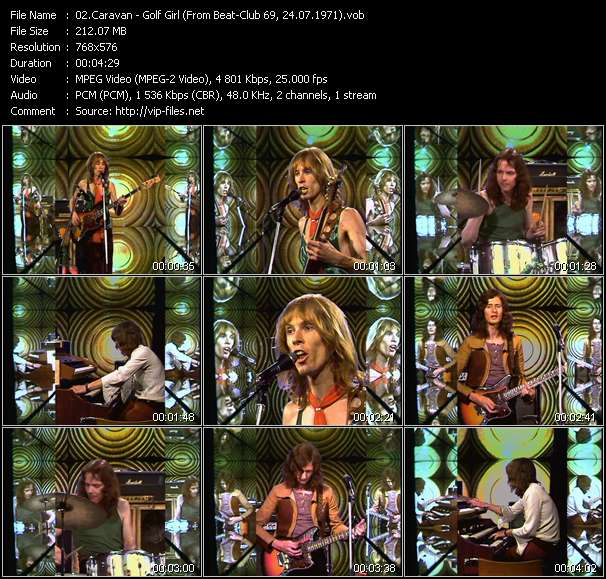 Screenshot of Music Video Caravan - Golf Girl (From Beat-Club 69, 24.07.1971)