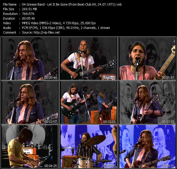 Screenshot of Music Video Grease Band - Let It Be Gone (From Beat-Club 69, 24.07.1971)