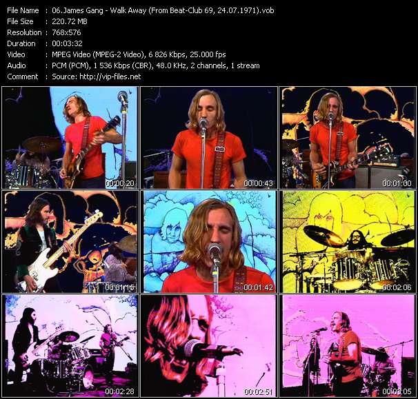 Screenshot of Music Video James Gang - Walk Away (From Beat-Club 69, 24.07.1971)