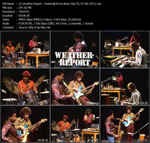 Screenshot of Music Video Weather Report - Waterfall (From Beat-Club 70, 07.08.1971)