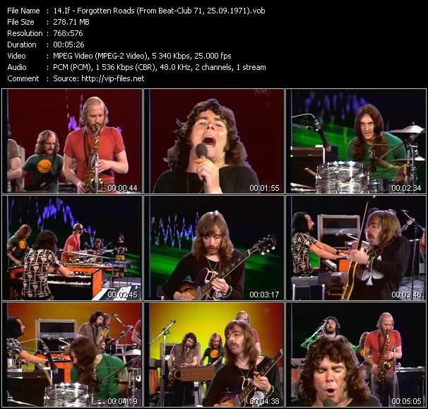 Screenshot of Music Video If - Forgotten Roads (From Beat-Club 71, 25.09.1971)