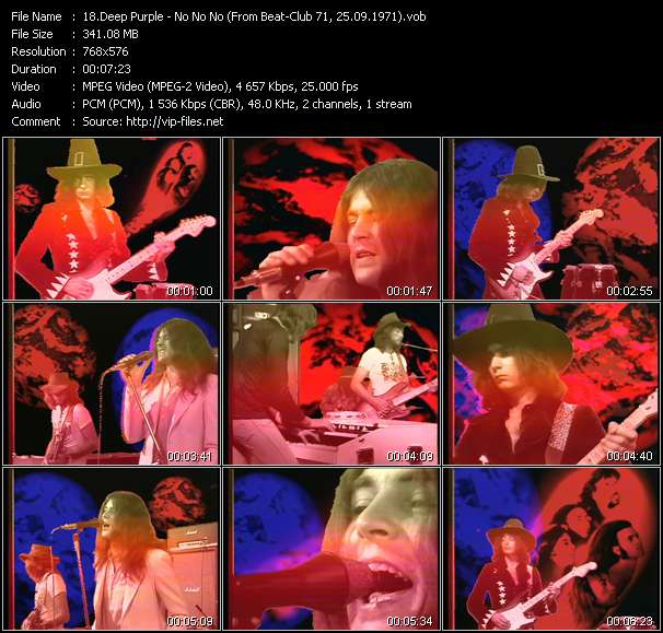 Screenshot of Music Video Deep Purple - No No No (From Beat-Club 71, 25.09.1971)