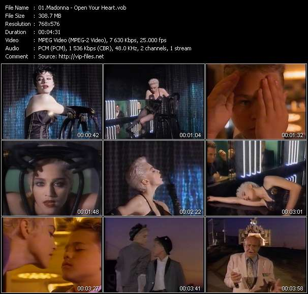 Screenshot of Music Video Madonna - Open Your Heart