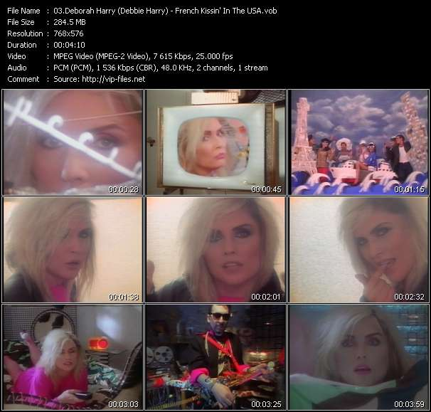 Screenshot of Music Video Deborah Harry (Debbie Harry) - French Kissin' In The USA