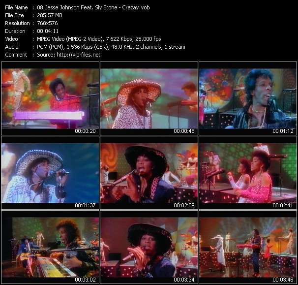 Screenshot of Music Video Jesse Johnson Feat. Sly Stone - Crazay