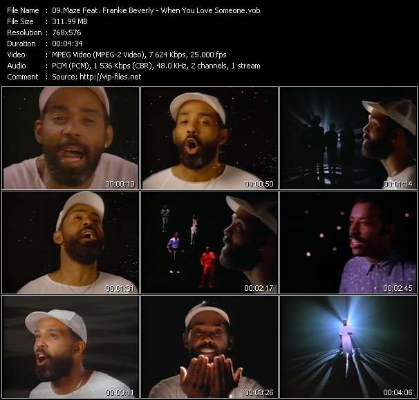Screenshot of Music Video Maze Feat. Frankie Beverly - When You Love Someone