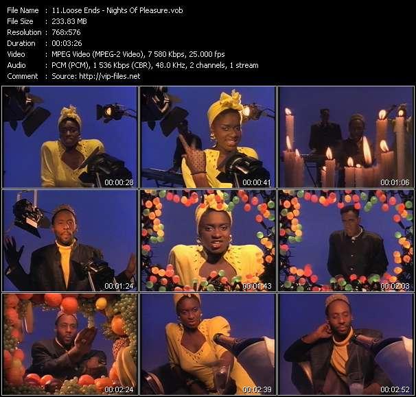 Screenshot of Music Video Loose Ends - Nights Of Pleasure
