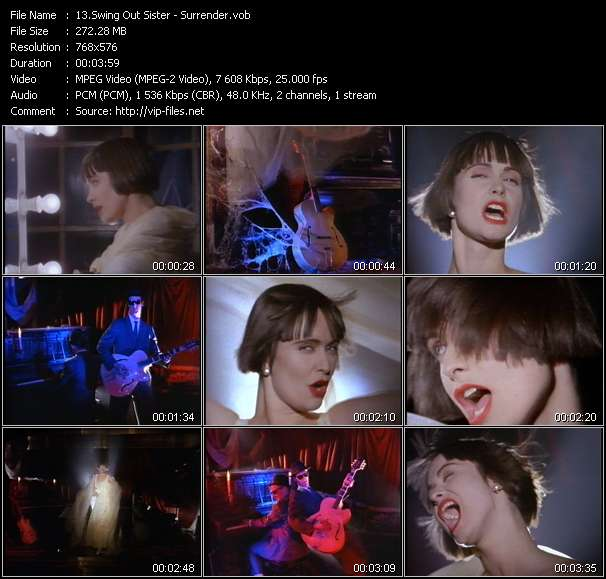 Screenshot of Music Video Swing Out Sister - Surrender