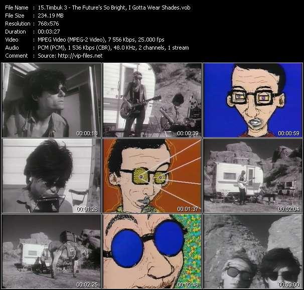Screenshot of Music Video Timbuk 3 - The Future's So Bright, I Gotta Wear Shades