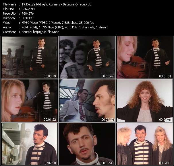 Screenshot of Music Video Dexy's Midnight Runners - Because Of You