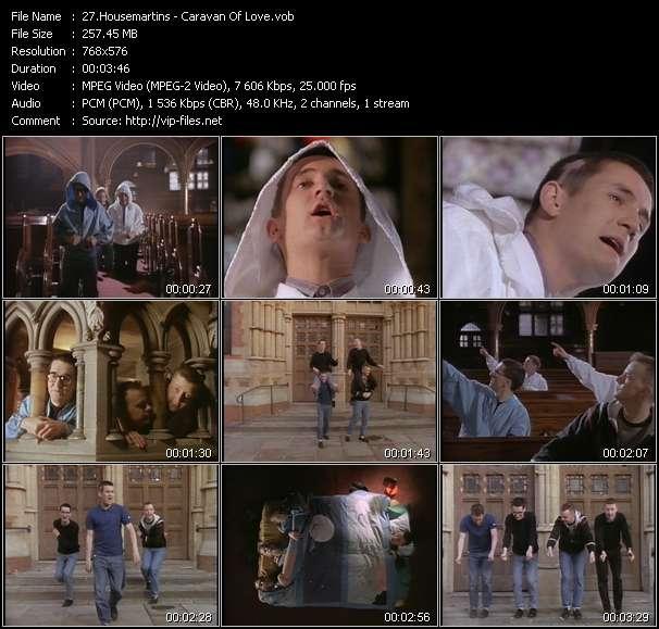 Screenshot of Music Video Housemartins - Caravan Of Love